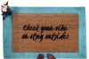 Check your vibe or stay outside boho style doormat