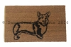 welsh corgi doormat pet portrait dog