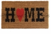 Country home heart doormat