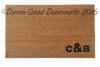 Custom initials doormat