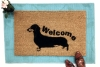 Daschund Hand Painted door mat