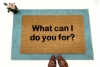 what can i do you for funny cute damn good doormat