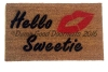 Hello Sweetie Kiss doormat
