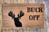 BUCK OFF! Duck Dynasty deer head doormat