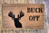 Buck Off! Deer hunter funny doormat