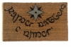 JRR Tolkien Elvish language 2 color nerd doormat
