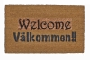 English & Swedish bilingual Välkommen doormat