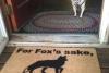 For fox's sake, wipe your feet, funny doormat