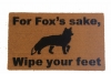 For fox's sake, wipe your feet, funny doormat
