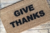 give thanks holiday thanksgiving doormat