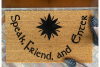 Elvish 1 color JRR Tolkien Speak Friend and Enter doormat