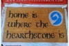 Home is where the Hearthstone is Minecraft gamer doormat