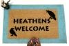 Heathens Welcome doormat withHugin&Munin Ravens Norse mythology Odin