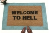 Welcome to Hell doormat gothic home decor
