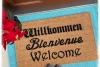 Cabaret Schitt's Creek Willkommen Bienvenue Welcome German French doormat mat ou