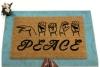 ASL PEACE American Sign Language Deaf culture Welcome damn good doormat