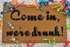"funny ""Get ready to Day Drink"" doormat with New years Eve party decorations"