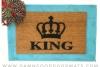 The King crown royal doormat