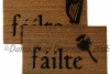 Irish Fáilte and thistle or Harp