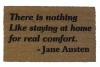 Jane Austen quote- doormat outdoor entrance rug