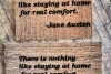 Jane Austen quote- doormat outdoor entrance rug