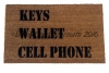 KEYS Wallet CELL Phone doormat, world's most useful doormat