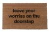 Leave your worries on the doorstep zen mantra housewarming gifts doormat