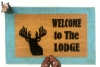Lodge Deer head Country Farm life style doormat