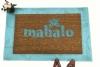 mahalo, hawaiian welcome, doormat, welcome mat, tiki style