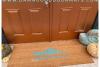Mahalo for removing your slippahs, Hawaiian, tiki style, sweet doormat