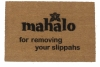 Mahalo for removing your shoes, Hawaiian, tiki style, sweet doormat