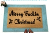 Merry Fuckin Christmas™ funny F Bomb  rude doormat