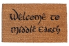 Welcome to Middle Earth, JRR Tolkien nerd doormat The Hobbit, LOTR