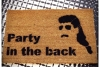 Party in the back™ MULLET doormat welcome porch outdoor backyard