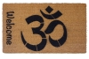 welcome om, namaste hindu doormat