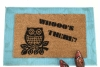 OWL  Whooo's There cute retro doormat