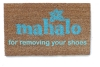 Mahalo for removing your shoes Hawaiian tiki style doormat