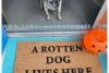 Rotten DOG lives here™ Hocus Pocus Halloween doormat