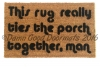 rug ties room together big lebowski doormat