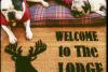 Buck Off! Deer hunter funny doormat