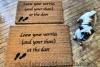 SCRIPT Leave your worries (and your shoes) at the door (heart)- Doormat
