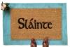 Slainte to your health irish scottish drinking doormat