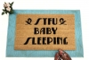 STFU Baby Sleeping™ new Mom doormat