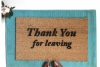 Thank you for leaving. Curb your Enthusiasm Funny doormat