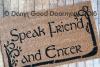 Tolkien  -Speak, Friend, and Enter- with TREES lotr hobbit