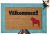 Valkommen- Swedish Come In doormat with Dala horse