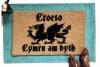 Welsh Welcome- Croeso, Cymru am byth dragon doormat