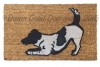jack russell dog play bow doormat
