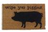 wipe your piggies barnyard farm pig damn good doormat