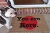 You are here. doormat
